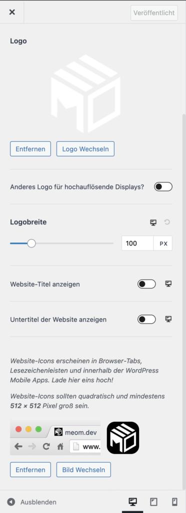 Website-Icon in WordPress hinzufügen