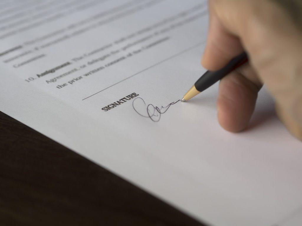 Webseite Mietvertrag läuft aus