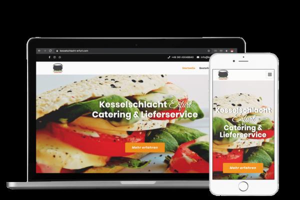 Lieferdienst Website Shop