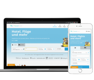 Flug und Hotel Buchung Website