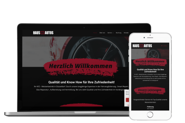 Autohaus Website, Autovermietung, Tuning Website